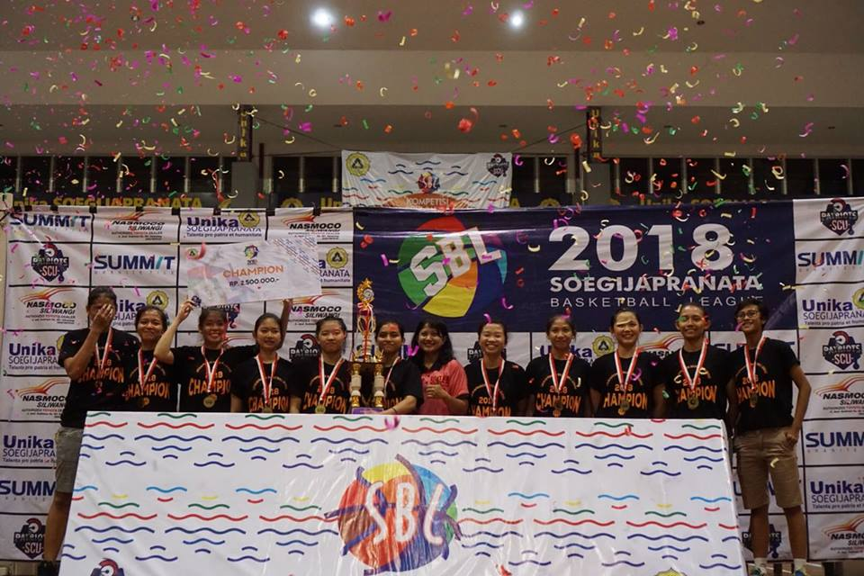 Juara Soegijapranata Basketball League 2018
