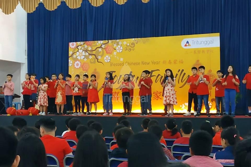 Perayaan Imlek Siswa-Siswi Sekolah Kristen Tritunggal