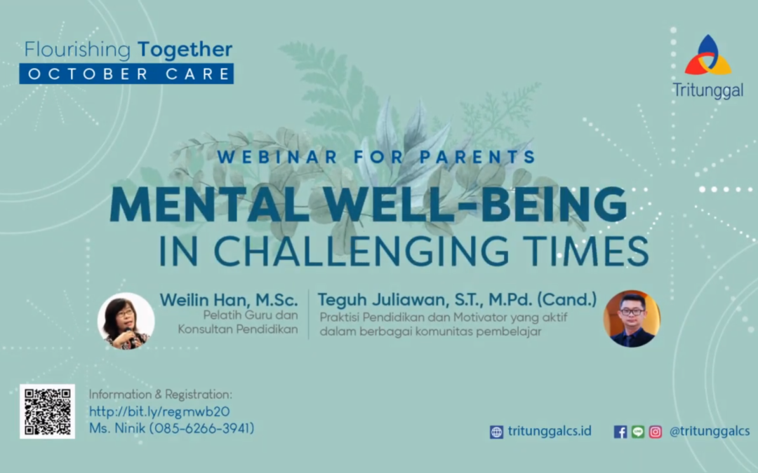 "Webinar for Parents ""Mental Well-Being In Challenging Times"""