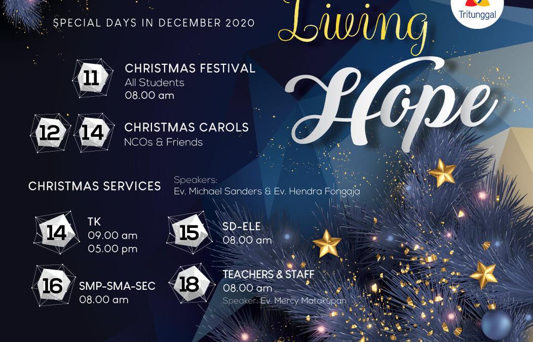 Rangkaian Acara Christmas 2020 Sekolah Kristen Tritunggal
