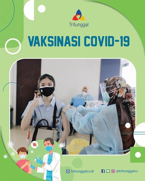 Vaksinasi Covid-19 Dosis Pertama bagi Siswa Sekolah Kristen Tritunggal
